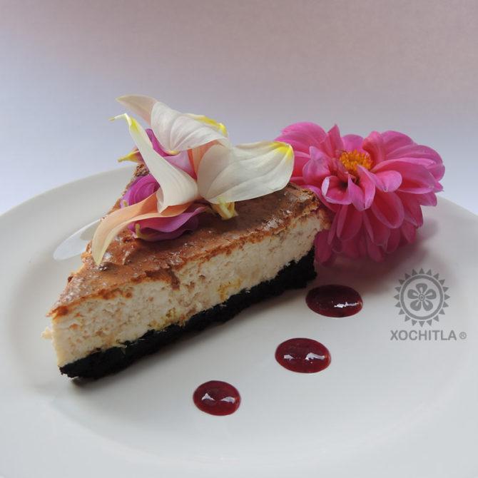 Cheesecake con Flores
