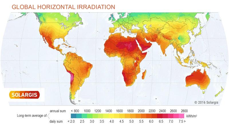 GHI Solar Map © 2017 Solargis