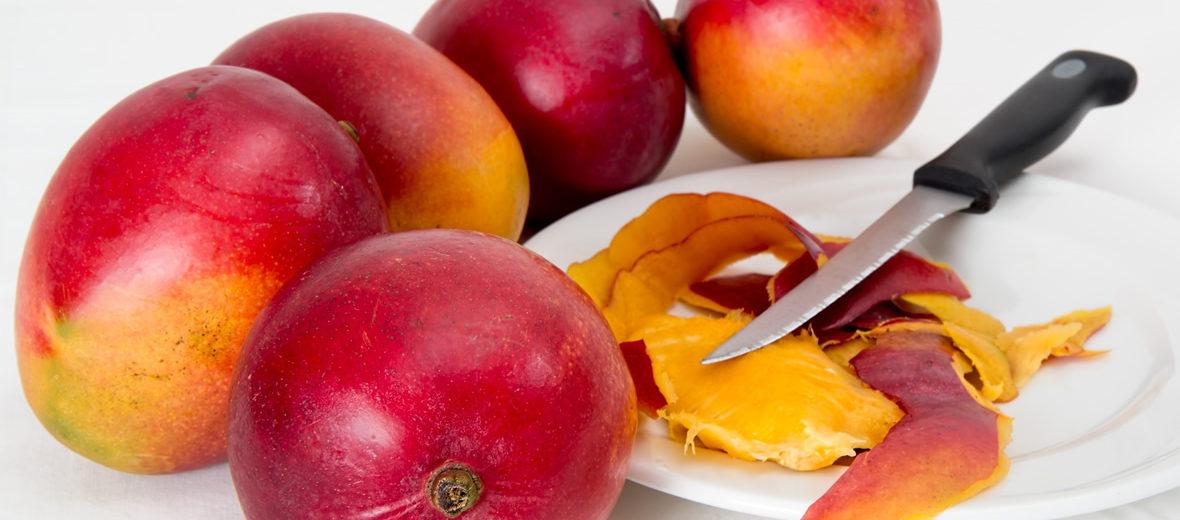 Cebiche de dalia y mango